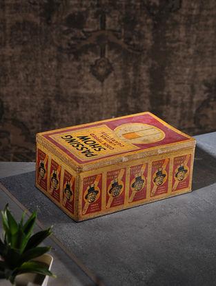 Vintage Iron Cigarette Box (L:5.6in, W:9.2in, H:3.7in)