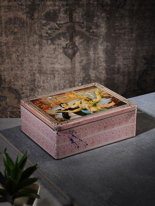 Vintage Iron Cigarette Box (L:7in, W:9in, H:3.1in)