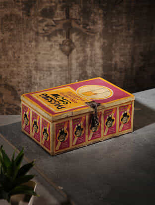 Vintage Iron Cigarette Box (L:9.3in, W:6in, H:3.7in)