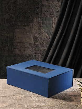 Blue Cardboard Gift Box (L:13.5in, W:18.7in, H:6.3in)