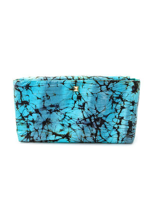 Blue Batik-Printed Silk Sling Bag