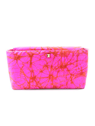 Pink Batik-Printed Silk Sling Bag