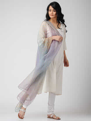 Grey Leheriya Georgette Dupatta