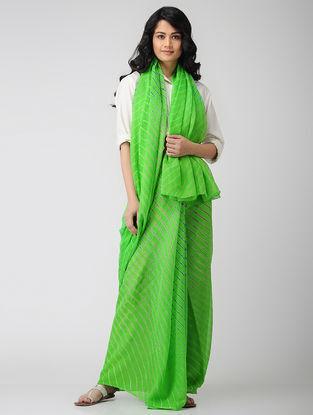 Green Leheriya Chiffon Saree