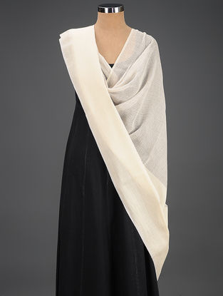 Ivory Handwoven Cotton Dupatta
