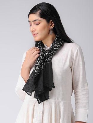 Black-Ivory Bandhani Cotton Stole
