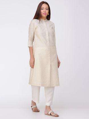 Beige Cotton Silk Kurta