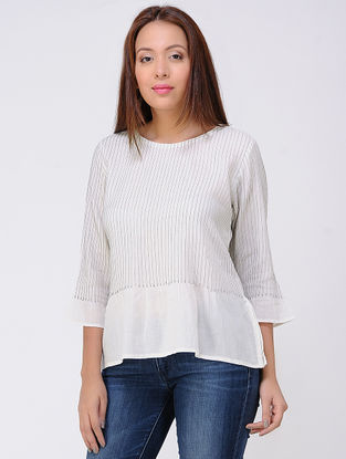 Ivory Pintuck Cotton Top
