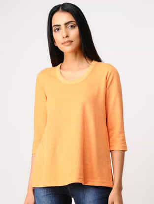 Orange Poly-cotton T-Shirt