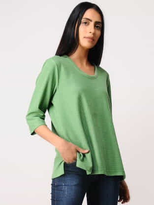 Green Poly-cotton T-Shirt