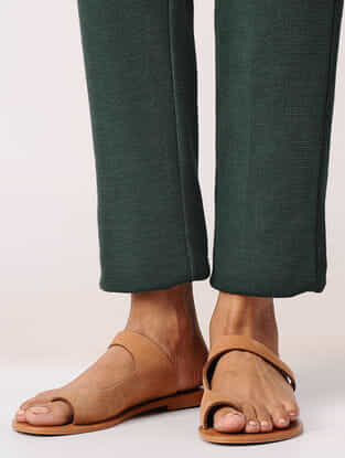 Green Elasticated Waist Poly-cotton Pants