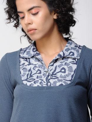 Indigo Poly Cotton Knitted Tunic