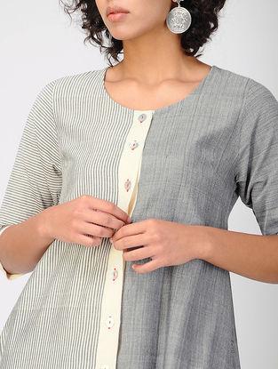 Grey Bhujodi Cotton Kurta