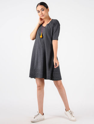 Grey Knitted Cotton Dress