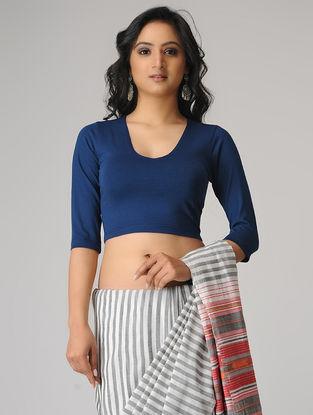 Blue Cotton Lycra Blouse