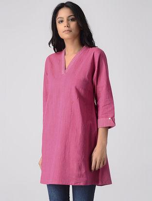 Pink Khadi Kurta