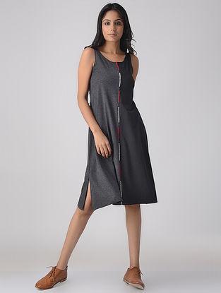 Black-Grey Knitted Dress