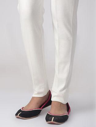 White Cotton Elasticated Waist Pants