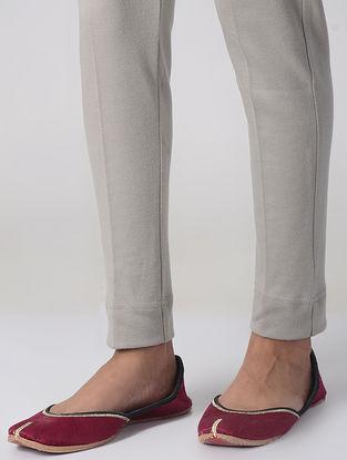 Grey Cotton Elasticated Waist Pants
