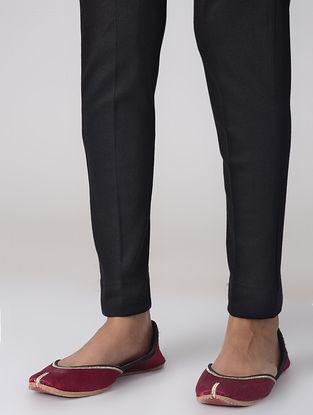 Black Cotton Elasticated Waist Pants