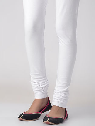 White Cotton Elasticated Waist Chudidar
