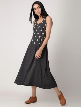 Grey Cotton Blend Dress