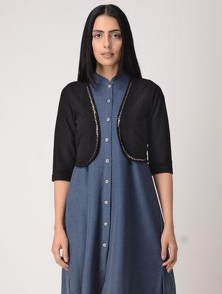 Black Poly Cotton Jacket