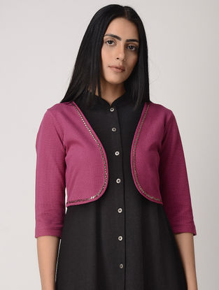 Magenta Poly Cotton Jacket