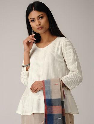 Ivory Pintuck Cotton Silk Top