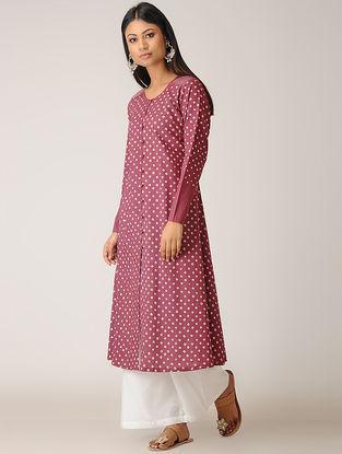Magenta Bandhani Cotton Kurta