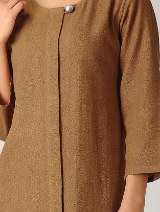 Brown Ghicha Silk Kurta
