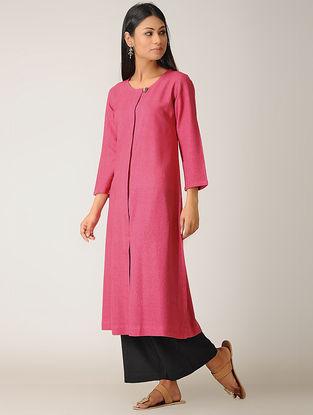 Pink Ghicha Silk Kurta
