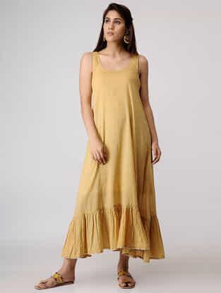 Beige Cotton Slip Dress