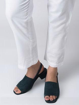 White Elasticated Waist Cotton Pants