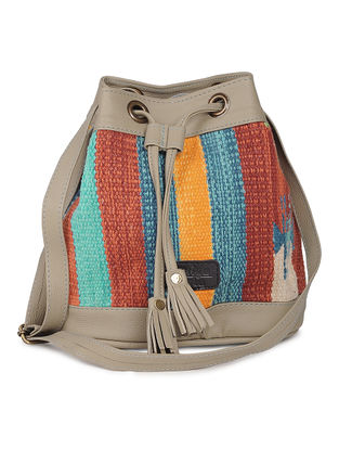 Grey-Multicolor Wool Kilim Sling Bag