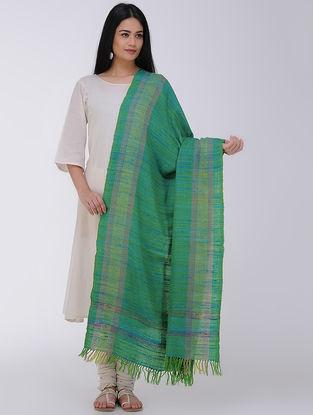 Green Wool Silk Shawl