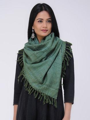 Green Wool Silk Stole