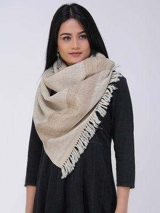 Beige Wool Silk Stole