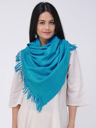 Blue Wool Silk Stole