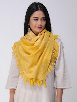 Yellow Wool Silk Stole