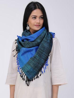 Blue-Black Wool Silk Stole