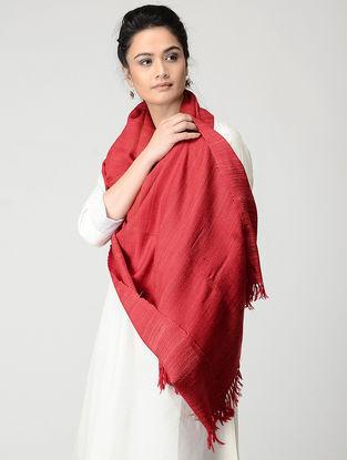 Red Wool-Silk Stole