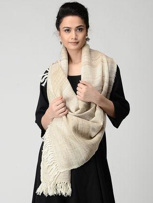 Beige Wool-Silk Stole