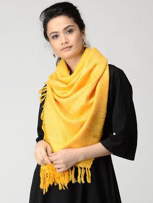 Mustard Wool-Silk Stole