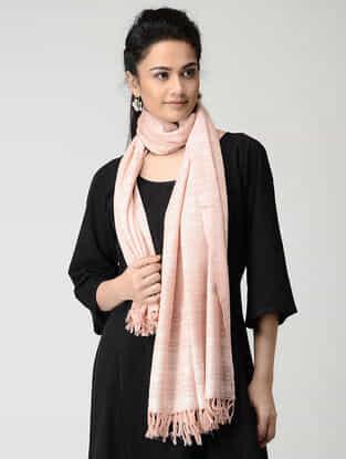 Pink Wool-Silk Stole