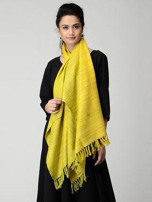 Yellow Wool-Silk Stole