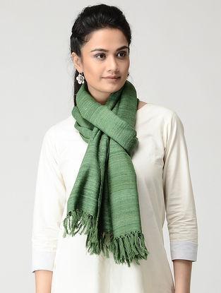 Green Wool-Silk Stole
