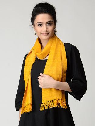Mustard Wool-Silk Muffler