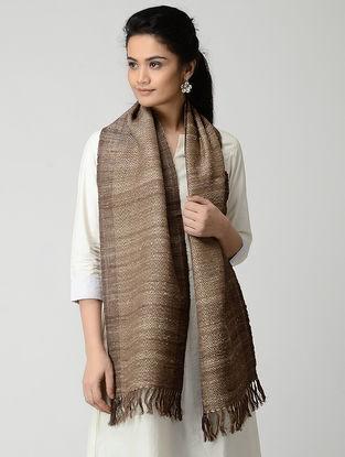 Brown Wool-Silk Muffler