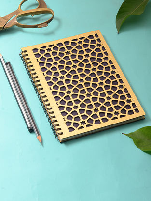 Navy Blue Notebook with Haveli Mehraab Cutwork Cover